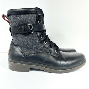 Ugg Kesey Boot Women's Size 9.5 Leather Mid-Calf Black 1005264